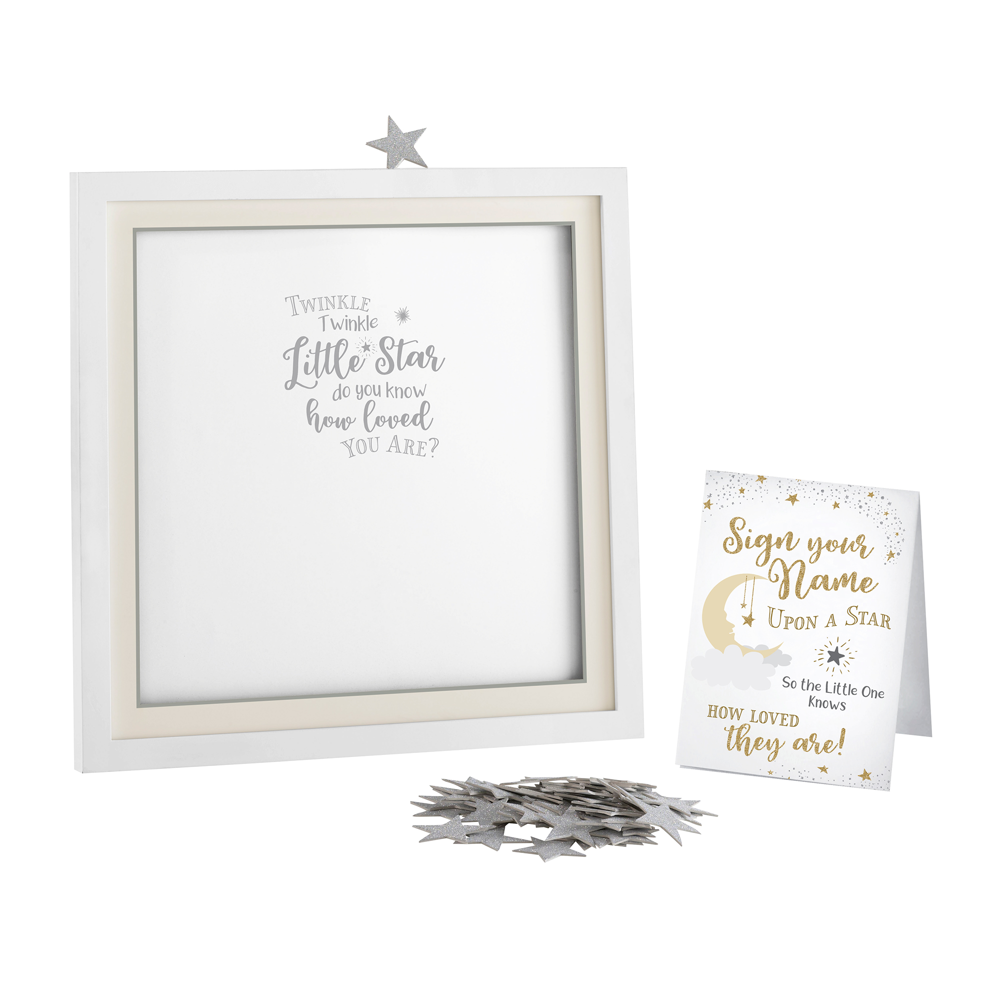 Lillian Rose Twinkle Shower Guest Signing Guest Book Alternative with 48 Stars