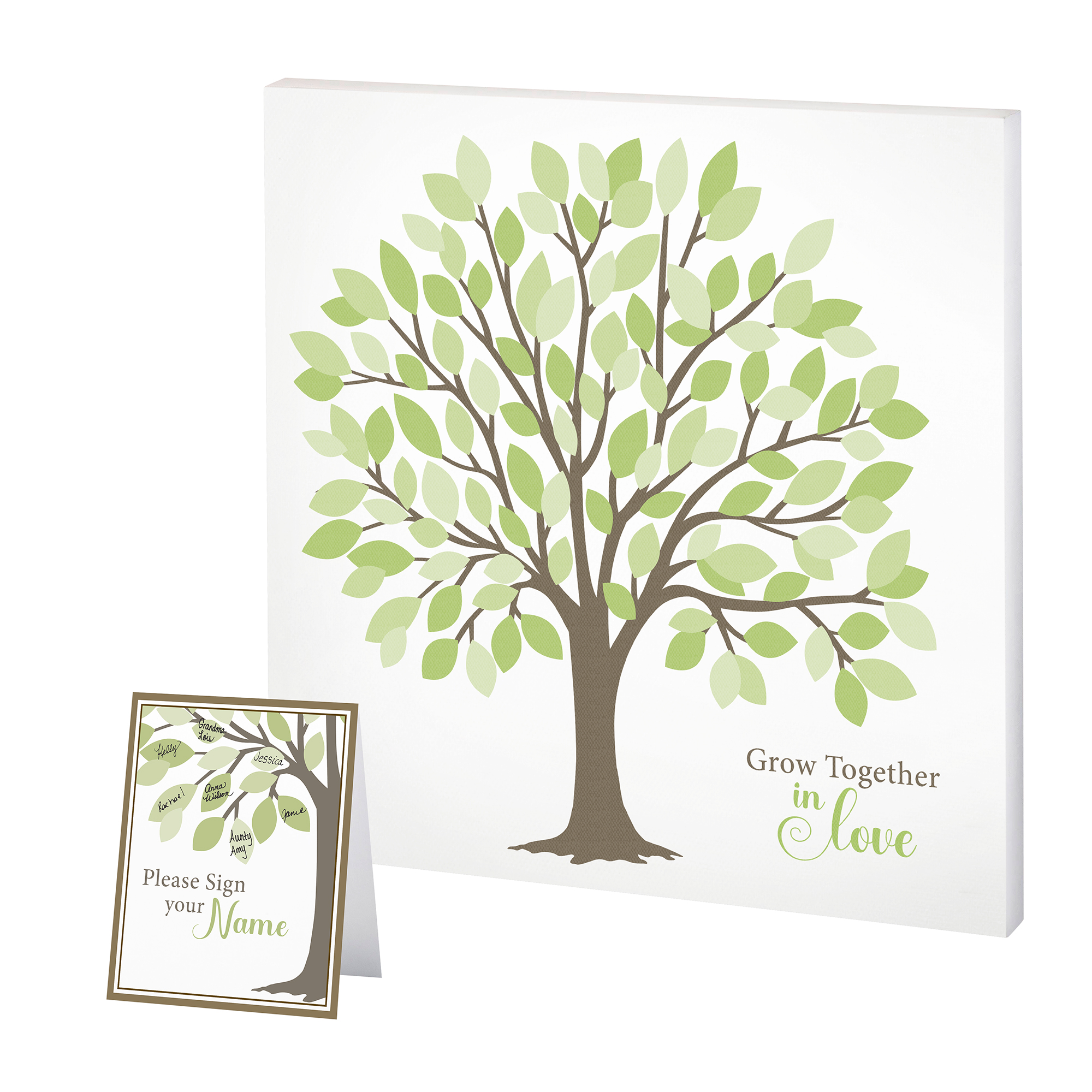 Lillian Rose Wedding Tree Guest Book Alternative Signing Tree with Green Leaves