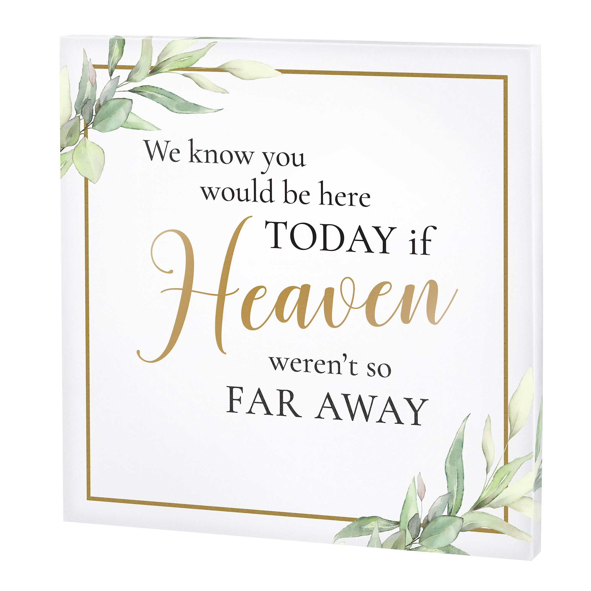 Lillian Rose Memorial Canvas in White and Gold