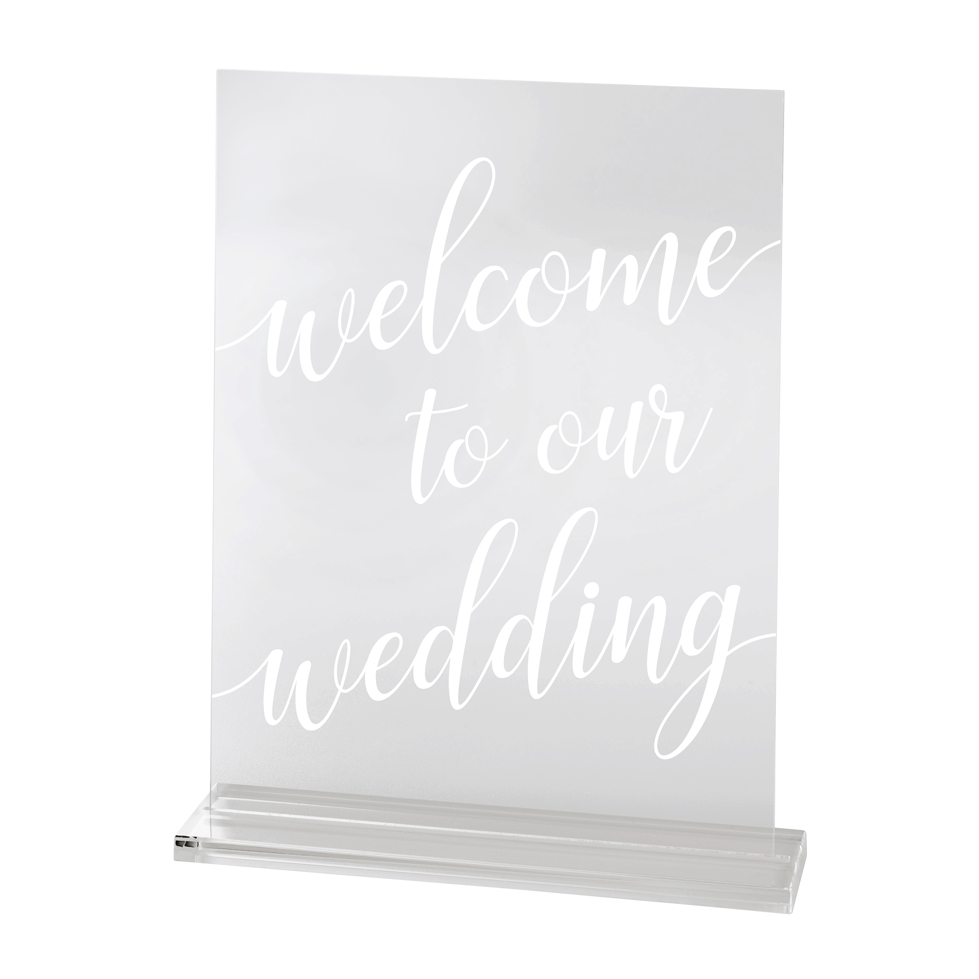 Lillian Rose Clear Acrylic Welcome to Our Wedding Sign